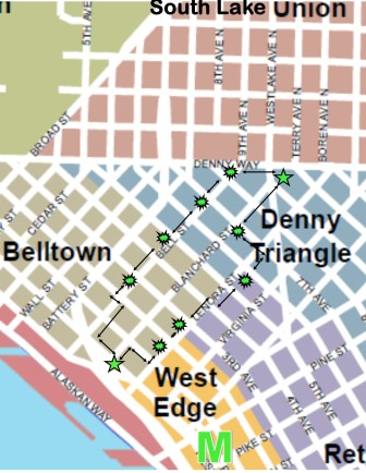 downtown prayer walk map